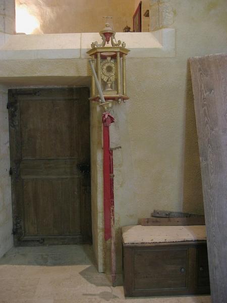Bâton de procession (statuette) : Saint Sacrement