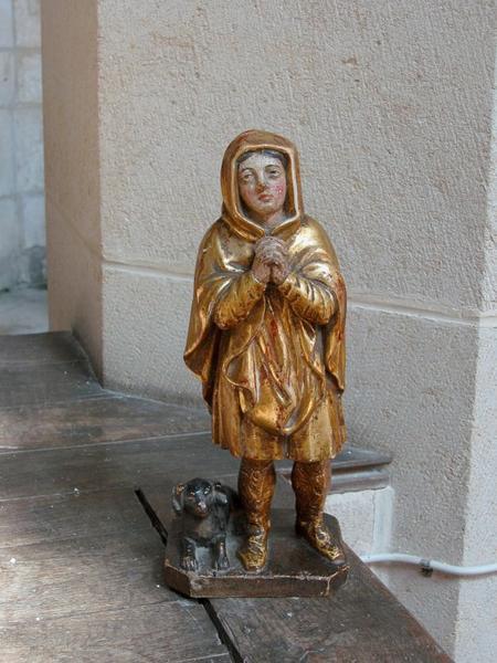 Statuette : Berger ou saint Roch priant ? (conservé chez l'habitant)