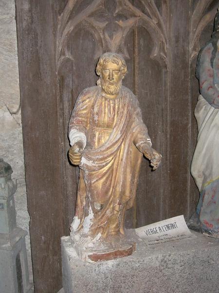 2 statuettes : Saint, Vierge
