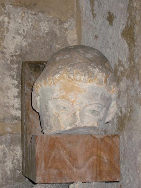Statue (tête) : Tête de moine