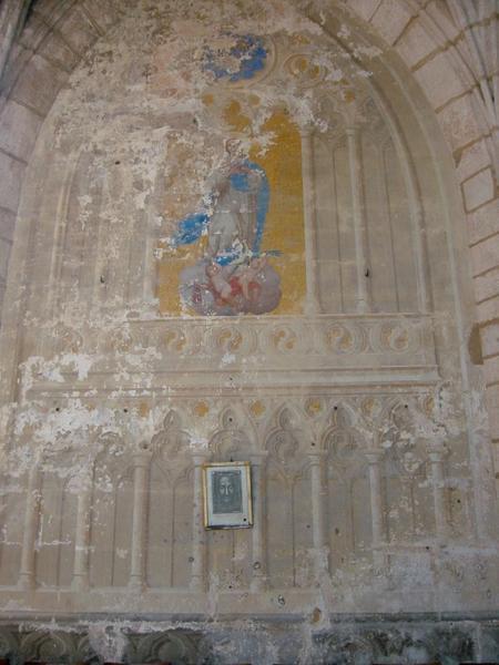 Peinture monumentale : Vierge, putti
