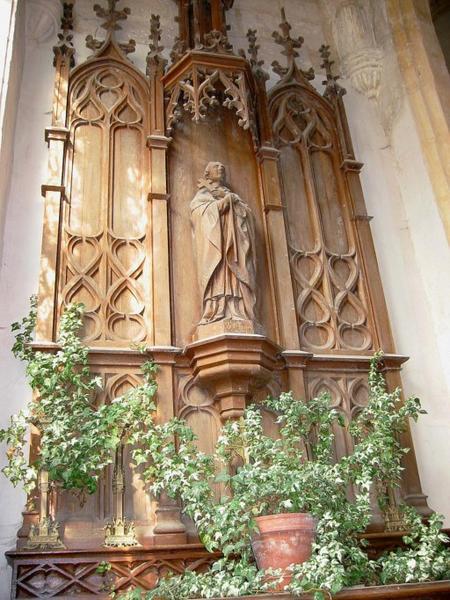 Autel, statue : Saint Charles