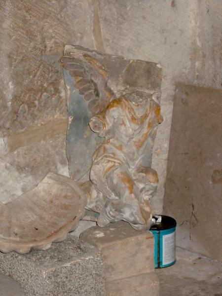 Statue (haut-relief) : Ange