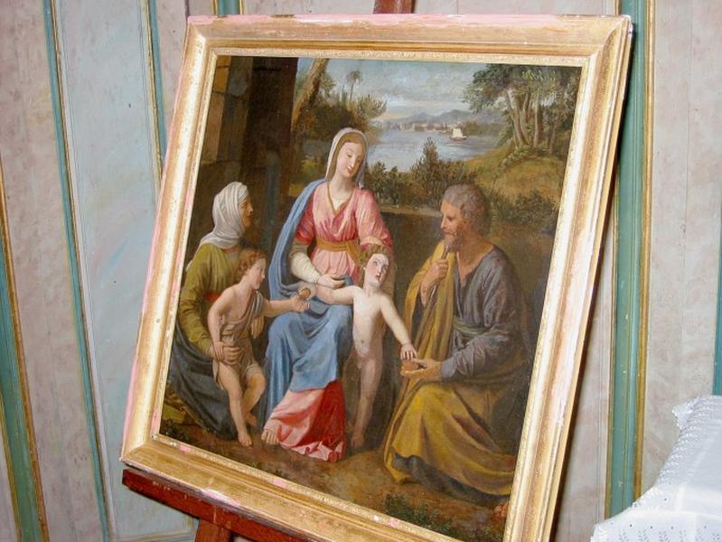 Tableau : Sainte Famille avec sainte Élisabeth et saint Jean-Baptiste