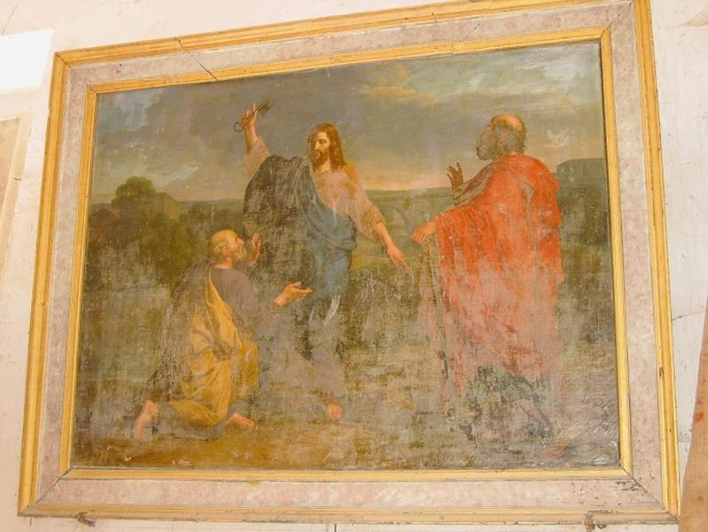 Tableau : Christ remettant les clefs à saint Pierre