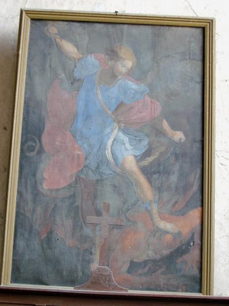 Tableau : Saint Michel terrassant le dragon