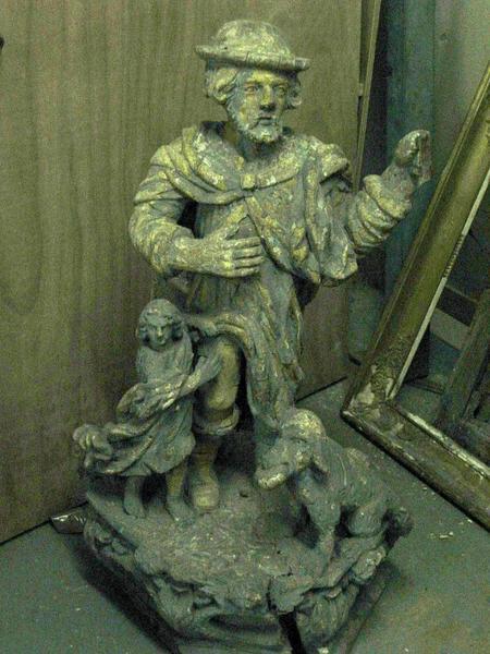 Statue : Saint Roch (conservé à la mairie de Nogent-sur-Seine)