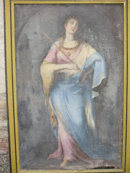 Tableau : Sainte Reine (?)