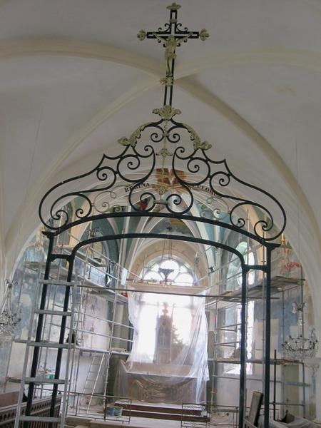 Clôture de sanctuaire, porte