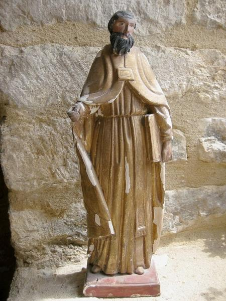 Statuette de bâton de procession : Saint Paul