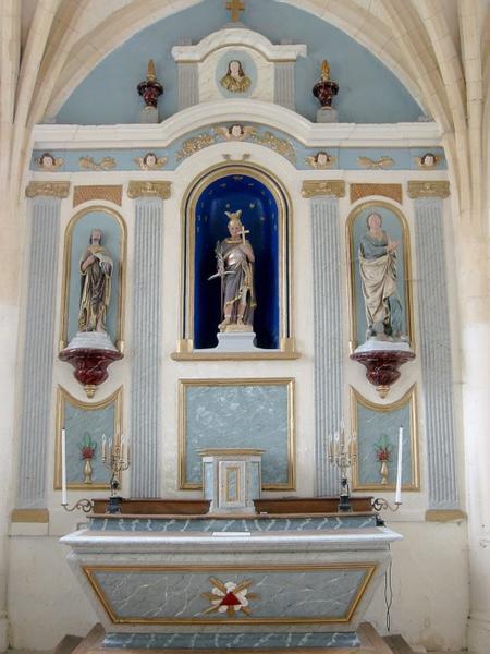 Maître-autel et retable, tabernacle