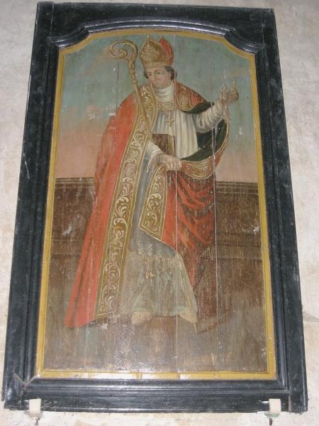 Panneau peint : Saint évêque
