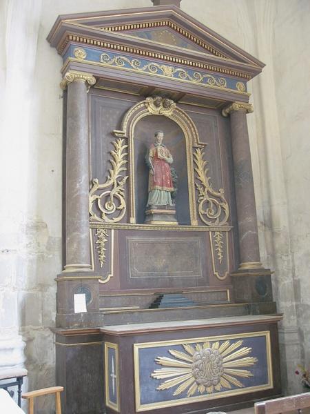 Autel et retable de Saint-Vincent