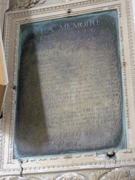 Plaque funéraire de Terrillon-Duprez