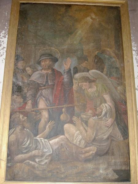Tableau d'autel : Saint Roch