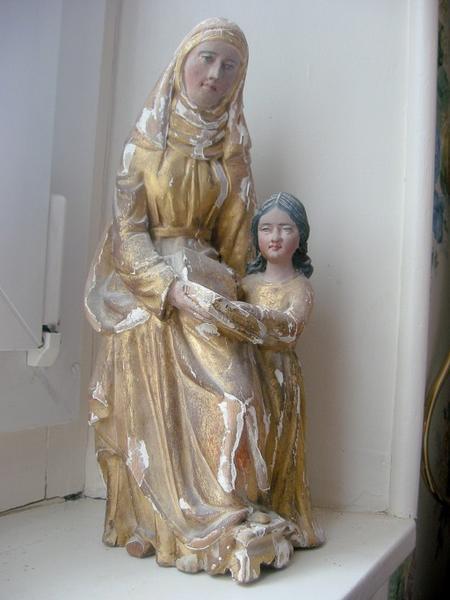 Statuette de bâton de procession : Sainte Anne