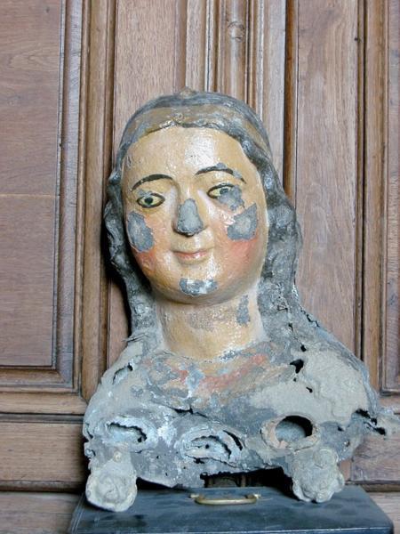 Buste-reliquaire : Sainte Béline, boîte