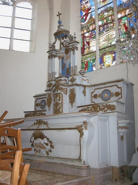 Maître-autel, tabernacle, exposition