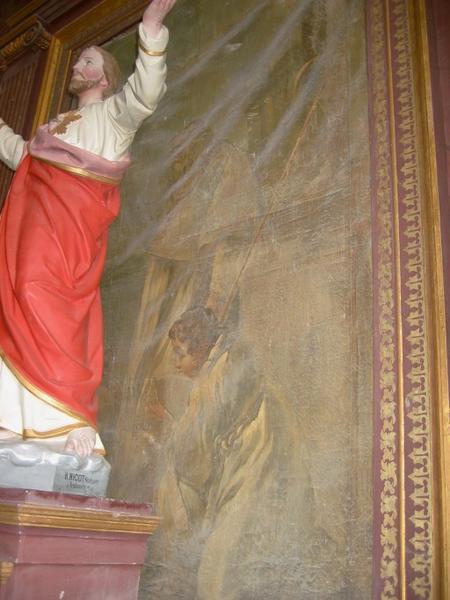 Tableau de l'autel Saint-Nicolas : Saint Nicolas et les trois enfants