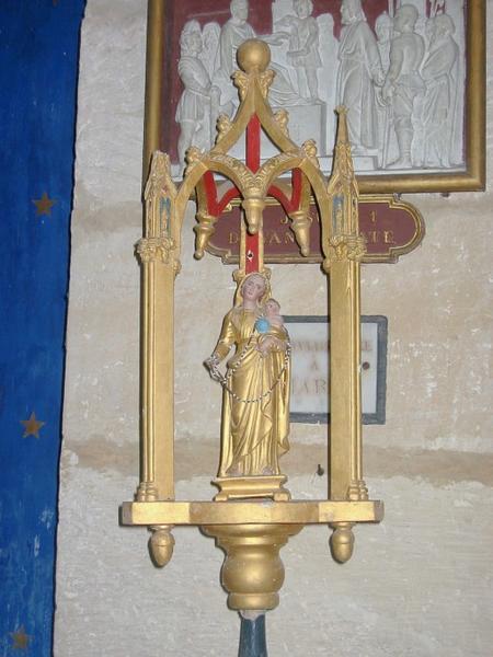 Bâton de procession de confrérie : Vierge à l'Enfant