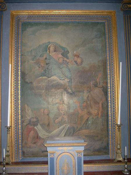 Tableau de l'autel de la Vierge : Assomption de la Vierge