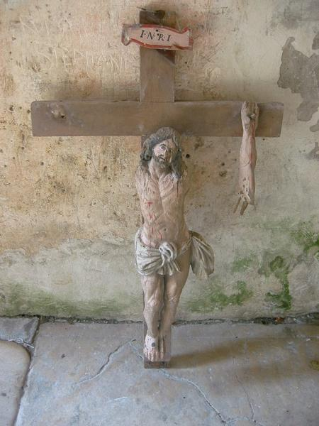 Statue de poutre de gloire : Christ en croix
