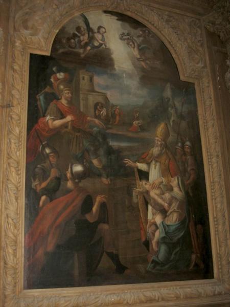 Tableau d'autel : Martyre de saint Blaise