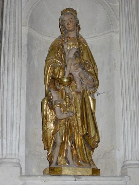 Statuette : Vierge à l'Enfant, ange