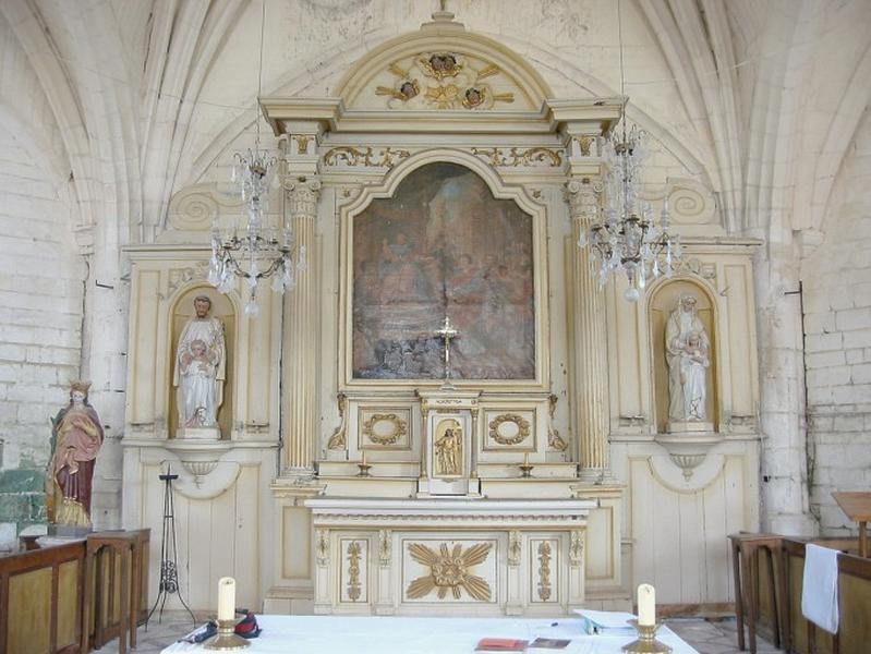 Maître-autel et retable, tabernacle, exposition