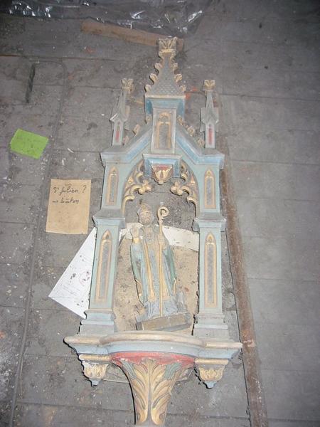 Bâton de procession de confrérie : Saint Éloi (?) (déposé en mairie)