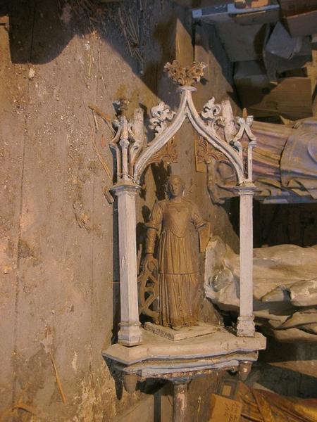 Bâton de procession de confrérie : Sainte Catherine (déposé en mairie)