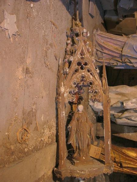 Bâton de procession de confrérie : Vierge (déposé en mairie)