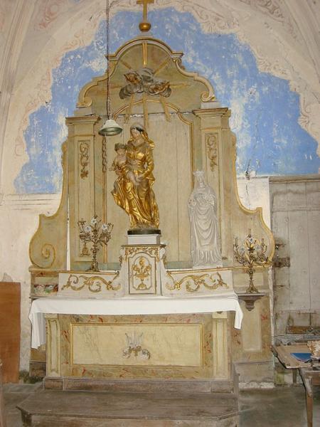 Autel et retable de la Vierge