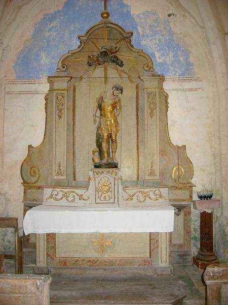 Autel et retable de Saint-Sébastien