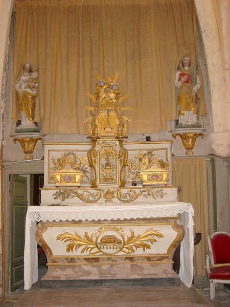 Maître-autel et retable, tabernacle, exposition, tableau