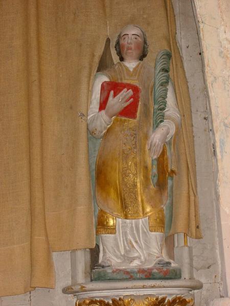 Statue : Saint martyr au livre