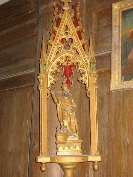 Bâton de procession de confrérie : Saint Nicolas