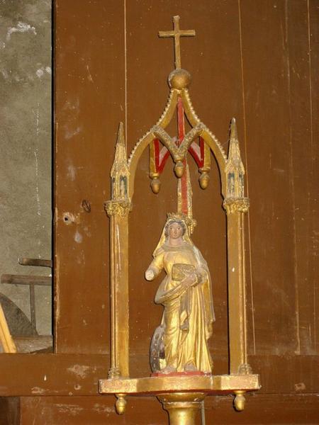Bâton de procession de confrérie : Sainte Catherine