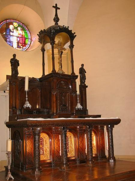 Maître-autel, tabernacle, exposition, 2 statues