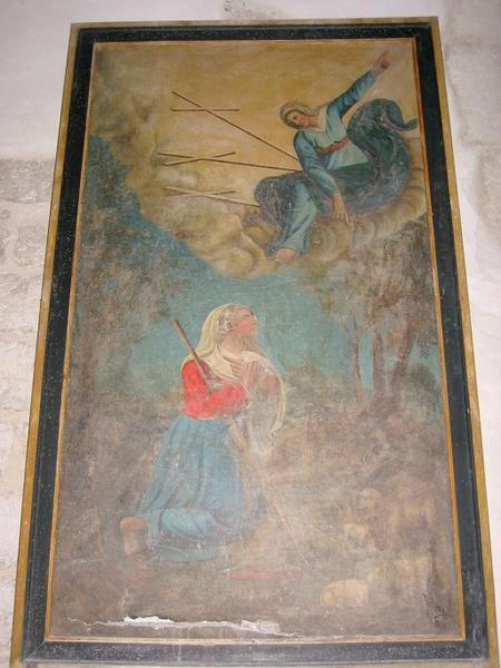 Tableau : Apparition de la Vierge à une bergère