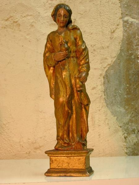 Statuette de bâton de procession : Sainte Germaine