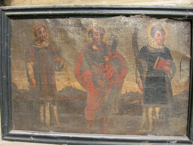 Tableau : Saint Laurent, saint Pierre, saint Étienne