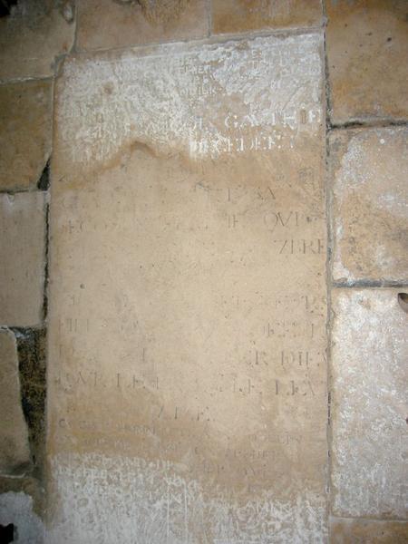 Dalle funéraire des Nobis, Gauthier et Odelin