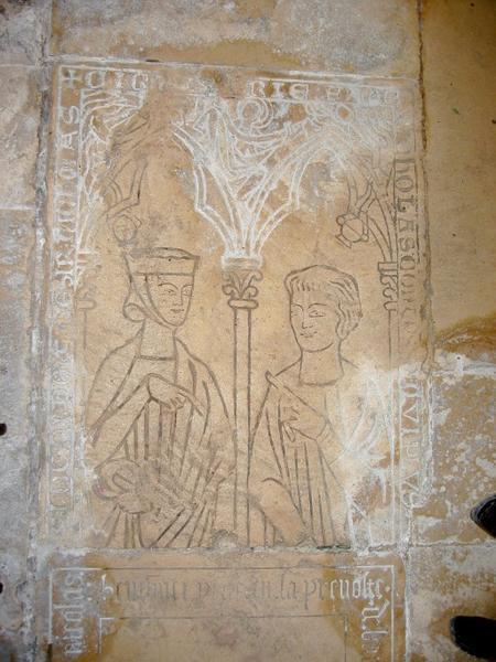 Dalle funéraire de Marie et Nicolas Comtesse
