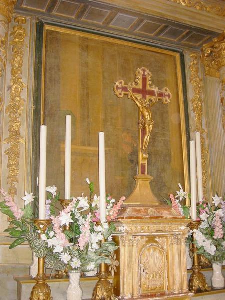 Tableau : Saint Léonard priant devant le tombeau de saint Rémy