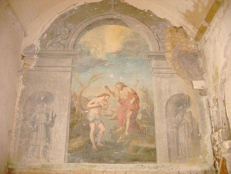 Peinture monumentale : Baptême du Christ