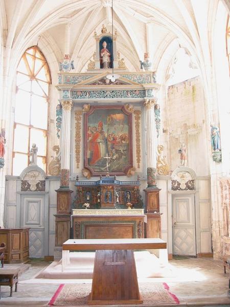 Maître-autel, tabernacle, retable, cloison