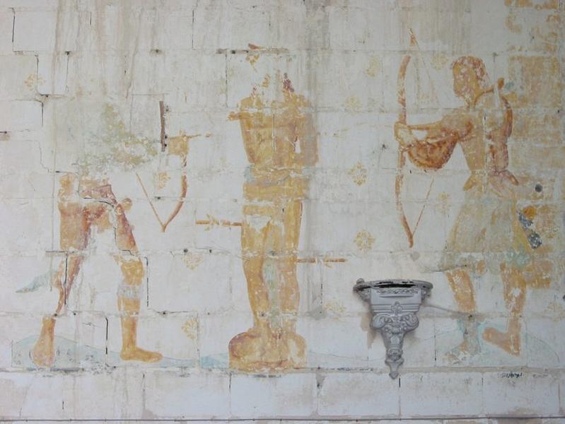 Peinture monumentale : Martyre de saint Sébastien