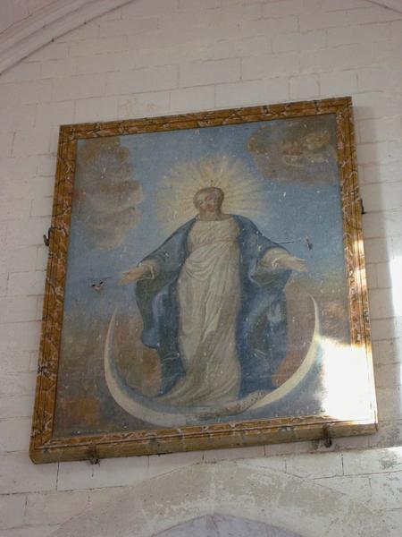 Tableau : Vierge en Nouvelle Eve sur le croissant de lune, cadre