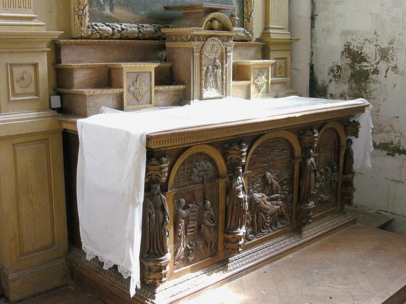 Autel : Annonciation, Piéta, Nativité, sainte Catherine